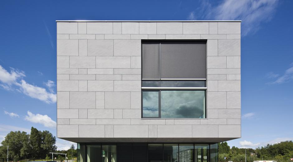 Galer a equitone sistemas de fachadas - Materiales para fachada ...