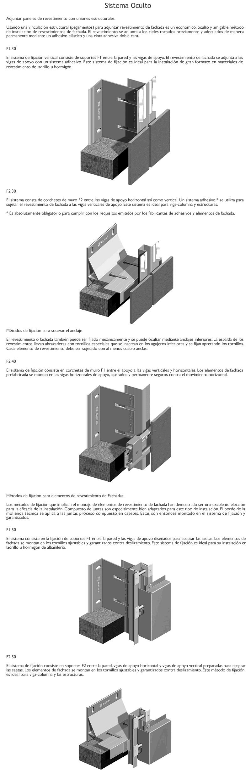 Sistema oculto Allface para fachadas