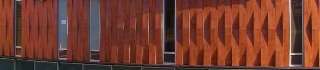 fachada ventilada de centro comercial fundermax