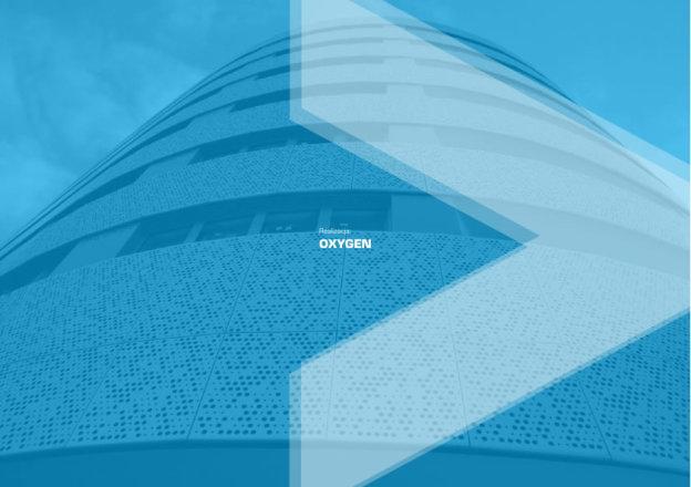 Edificio Oxigen con fachada metalica