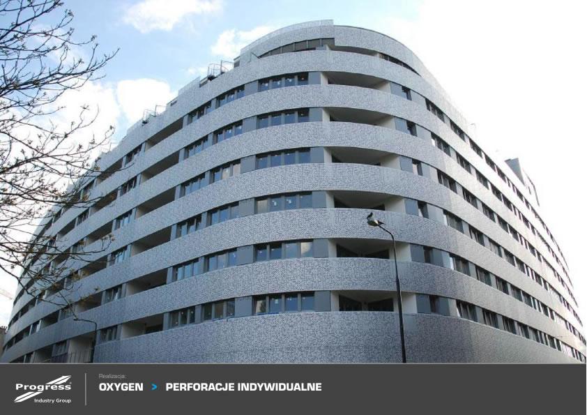Oxigen fachada metalica perforada