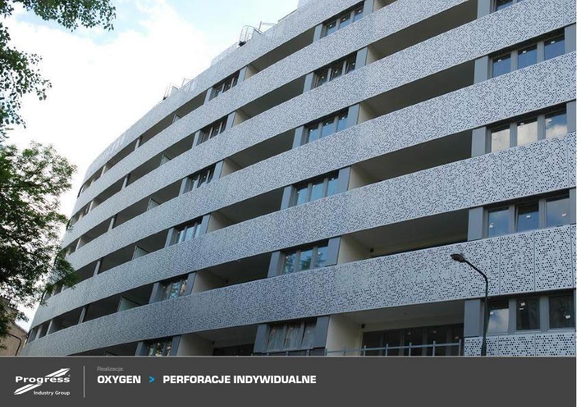 Edificio Oxigen en varsovia, fachada Progress