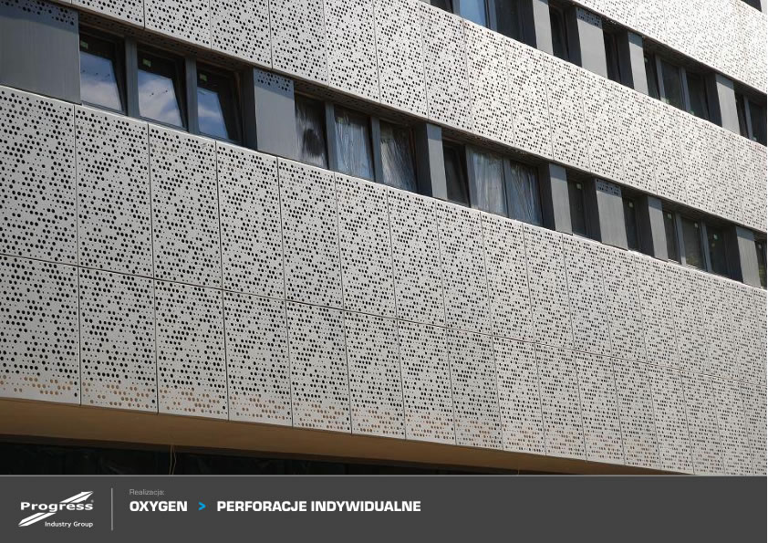 material para fachada lamina metálica perforada
