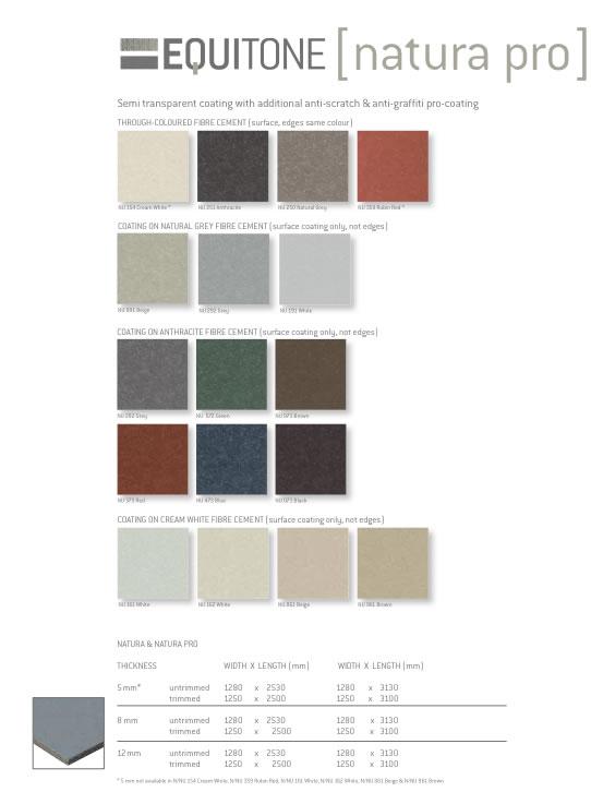 carta de colores Equitone natura pro