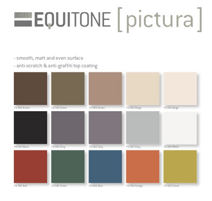 carta de colores Equitone pictura