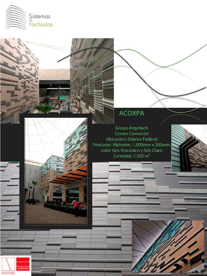 Centro comercial Acoxpa revestimiento