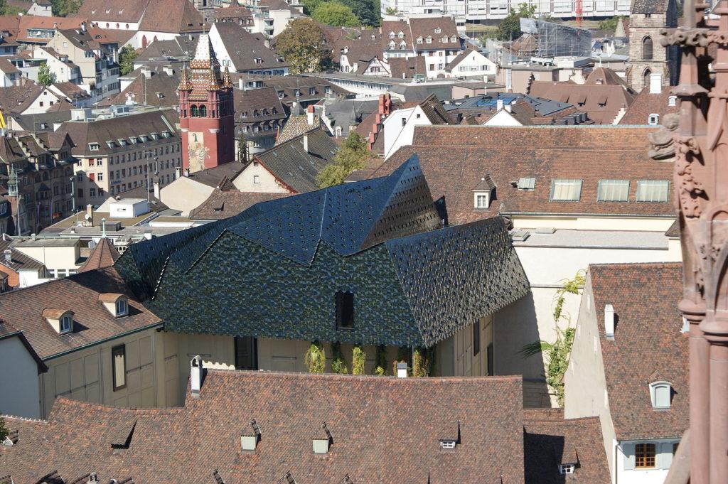 fachada ventilada del museo de las culturas Suiza